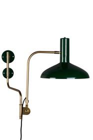 Lampa ścienna DEVI zielona  Cechy: klosz i montaż naścienny żelazna w kolorze zielonym, korpus mosiężny regulowany we wszystkich kierunkach Źródło...