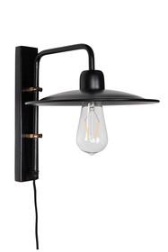 Lampa ścienna FOUK, w kolorze czarnym z mosiężnymi elementami  Wymiary: Średnica klosza: 26 cm Wysokość klosza:4 cm Odległość klosza od...