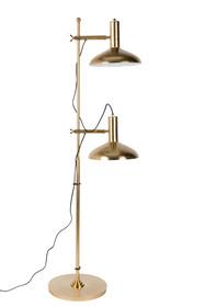 Lampa podłogowa KARISH  Lampa niklowana żelazna, od wewnątrz w odcieniu białym, regulowana we wszystkich kierunkach  Źródło światła: E27, max. 25...