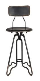 Stołek barowy OVID czarny marki Dutchbone  Materiał: Rama żelazna, dzięki lekkim przetarciom, stołek posiada industrialny look Maksymalne...