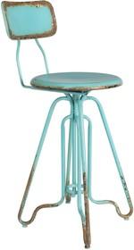 Stołek barowy OVID niebieski marki Dutchbone  Materiał: Rama żelazna, dzięki lekkim przetarciom, stołek posiada industrialny look Maksymalne...