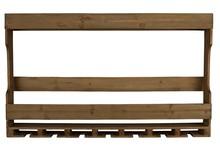 Szafka industrialna wisząca TRES  Materiał: Wykonana z naturalnego drewna jodły z antycznym wykończeniem Stojak na butelki oraz 7 uchwytów na szkło/...