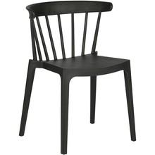 Krzesło Bliss, czarne  Kolor:  - Czarny  Wymiary:  - Wysokość: 75 cm - Szerokość: 52 cm - Głębokość: 53 cm  Materiał:  - Polipropylen