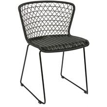 Zestaw dwóch krzeseł Quadro, kolor czarny  Wymiary:  - Wysokość: 77 cm - Szerokość: 54 cm - Głębokość: 56 cm  Materiał:  - PE