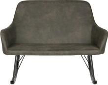 Sofa bujana Roll, kolor czarny