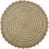 Okrągły dywan Corn z juty