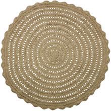 Okrągły dywan Corn z juty  Wymiary:  - Średnica 150 cm  Materiał:  - juta