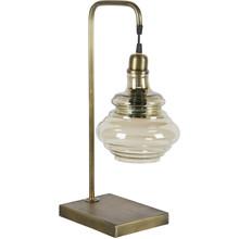 Lampa biurkowa Obvious  Lampa biurkowa Obvious na metalowej podstawie w kolorze mosiądzu.Szklany klosz.  Wymiary:  - Wysokość: 49 cm - Szerokość:...