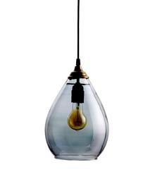 Lampa wisząc Simple ze szklanym kloszem dostepna jest w dwóch rozmiarach: M i L oraz dwóch kolorach wykończenia kloszu: mosiężnym i szarym.  Kolor:...