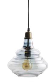 Lampa wisząca Pure vintage dostępna jest w dwóch kolorach wykończenia kloszu: mosiądzu i szarym.  Kolor: szary Materiał: szkło Wymiary: 28x25...