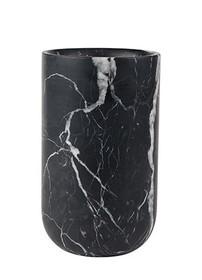 Wazon FAJEN marmurowy czarny marki Zuiver  Wymiary: 15 x 25 cm (Ø x wys) Średnica otworu: 12 cm  Uwaga: wazon jest wykonany z produktu naturalnego, a...