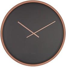 Zegar ścienny Time Bandit w kolorystyce czerni i miedzi.  Tarcza w kolorze czarnym przykryta szklaną oprawą, wskazówki są miedziane. Stalowa oprawa w...