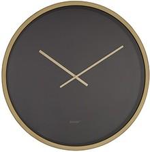Zegar ścienny Time Bandit w kolorystyce czerni i mosiądzu.  Tarcza w kolorze czarnym przykryta szklaną oprawą, wskazówki są aluminiowe w kolorze...