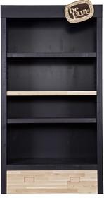 Komoda ekspozycyjna Bepure, kolor czarny  Drewniana komoda ekspozycyjna do sklepu. Wykonana z drewna w kolorze czarnym. Drewno sosnowe. Komoda do...