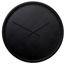 Zegar ścienny Time Bandit w kolorze czarny,  Tarcza zegara w kolorze czarnym przykryta szklaną oprawą, wskazówki są aluminiowe również w kolorze...