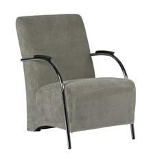 Fotel sztruksowy wyblakły zielony - Woood