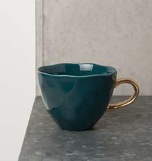 Ceramiczna filiżanka Good morning w kolorze turkusowym. Wykonana z mieszanki prochu z kości zwierzęcych, kamionki i białej glinki. Produkty marki Urban...