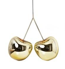 Lampa Cherry złota  Lampa Cherry łączy w sobie aż kilka modnych trendów: industrialny luz, zamiłowanie do minimalizmu i świateł reflektorów. Cherry...