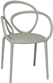 Krzesło Loop z poduszką szare - 2 szt.