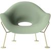 Fotel Pupa zielono-mosiężny