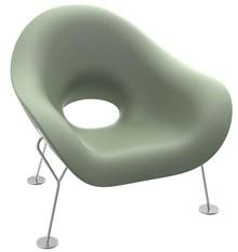 Fotel PUPA - zielony/chrom