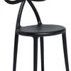 Zestaw 2 krzeseł Ribbon czarny mat