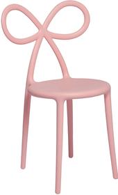 Zestaw 2 krzeseł Ribbon różowy mat