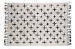 Dywanik More bawełniany 170x240, biało-czarny