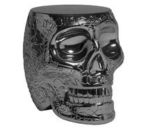 Stołek/stolik MEXICO metalowy - tytanowy