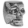 Stołek Mexico metalowy srebrny