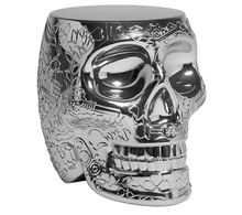 Stołek/stolik MEXICO metalowy - srebrny
