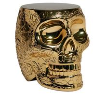 Stołek/stolik MEXICO metalowy - złoty