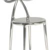 Krzesło Ribbon metalowe srebrne