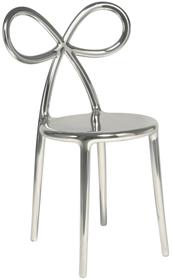 Krzesło RIBBON metalowe - srebrne