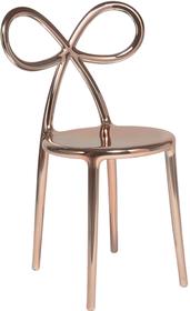 Krzesło RIBBON metalowe - różowe złoto