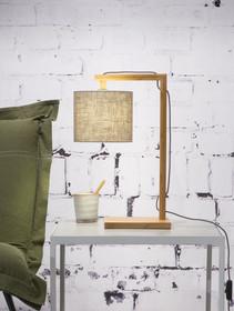 Lampastołowa Himalaya.Podstawa lampy wykonana z bambusa. Podstawa o wysokości 47cm.Wymiary podstawy: 20x16x2 cmŹródło światła: E14, max....