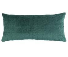Poduszka IRYS w kolorze zielonym.  Materiał: Tkanina wykonana z 80% bawełny i 20% poliestru, naszywany wzór graficzny. Wypełnienie: kulki...