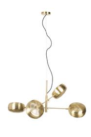 Wisząca, sufitowa lampa GRINGO marki Zuiver powstała z połączenia mosiężnych elementów. Cztery połyskujące klosze przywodzą na myśl plastry miodu....