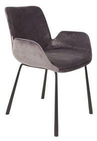 Fotel BRIT charakteryzuje się wspaniałym wzornictwem i wysoką jakością. Wykonany został z welurowej tkaniny oraz metalowej podstawy. ...