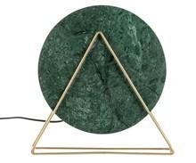Lampa stołowa LOUIS MARBLE zielona  Materiał: marmur, żelazo malowane proszkowo Źródło światła: E27 / 25W Wymiary: 33x18x35 cm...