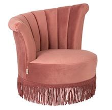 Wyjątkowy fotel Flair obity aksamitem z asymetrycznym oparciem.  Materiał:Obicie wykonane z aksamitu, rama z drewna sosnowego  Wymiary:...