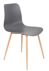 Materiał: nogi: drewno siedzisko: polipropylen w kolorze szarym Wymiary: 44,5x49x80 cm Wysokość siedzenia: 42 cm Głębokość siedzenia: 44 cm Maksymalne...