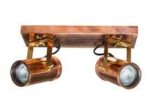 Podwójna lampa sufitowaSPOT LIGHT SCOPE  Kolor: miedziany Materiał: stal, mosiądz Wymiary: 24,8x8,5x1,9 cm Źródło światła: 3000 Kelvin, 320...