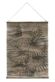 Plakat vintage: liście palmy