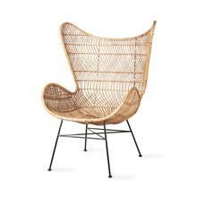 Fotel rattanowy EGG BOHEMIAN - naturalny