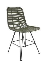 Rattanowe krzesło HOKAIDO - oliwkowe