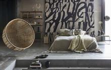 Rattanowy fotel wiszący bohemian, naturalny