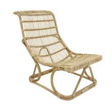 Ręcznie pleciony fotel rattanowy, naturalny