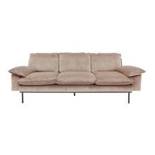 Sofa 3-osobowa aksamitna w kolorze cielistym (nude)