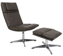 Fotel ORANGE LINE  Materiał: 100% sztuczna skóra, wypełnienie z pianki, sklejka. Podstawa wykonana ze stopu aluminium z chromowanym wykończeniem. ...